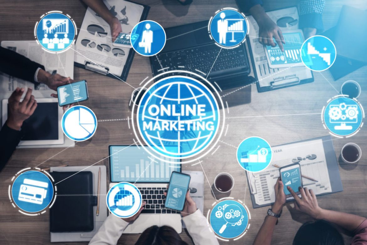 Digital Marketing Technology Solution For Online Business Concep